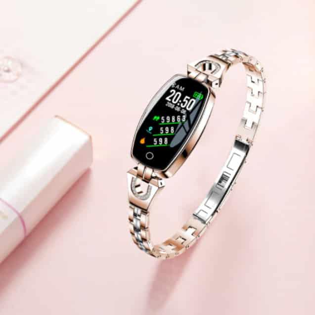 bracelet connecté femme bcf1 doré - Montre Connexion 3