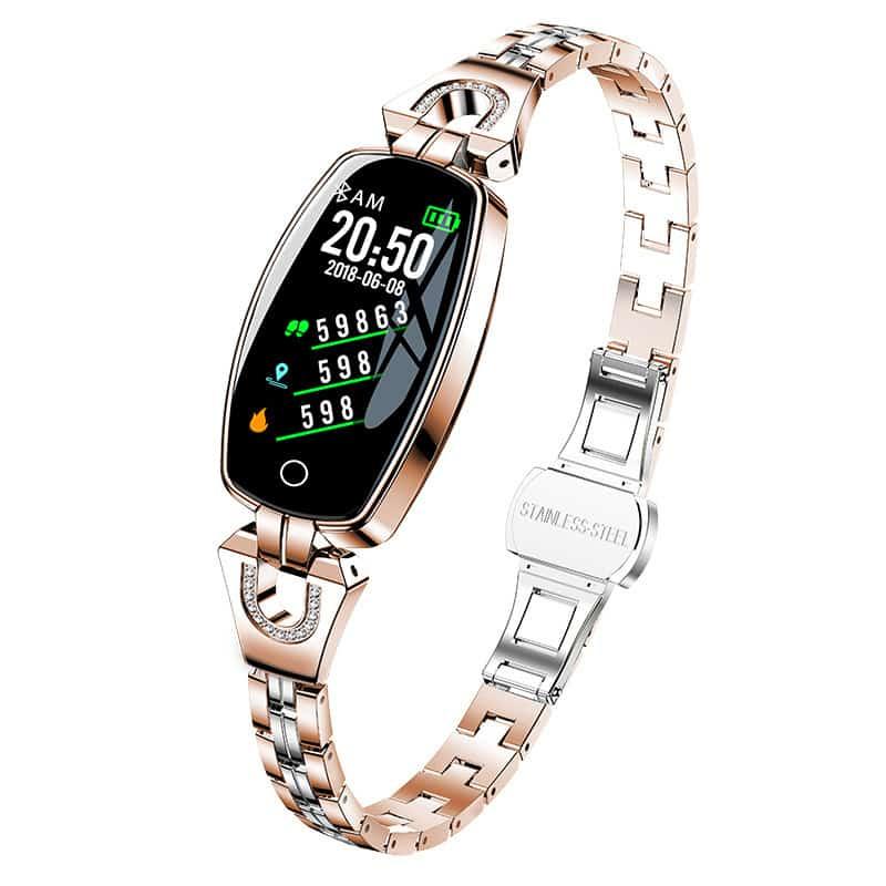 bracelet connbracelet connecté femme bcf1 doré - Montre Connexionecté femme bcf1 doré