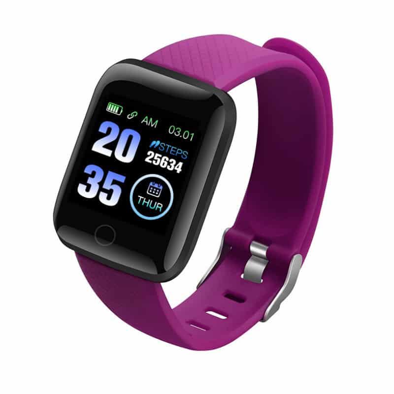 bracelet connecté BC1 violet - montre connexion