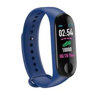 bracelet connecté bc2 bleu - montre connexion 2