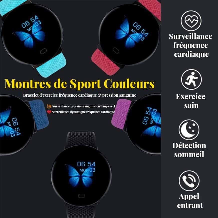 Montres connectées sport santé fréquence cardiaque détection du sommeil