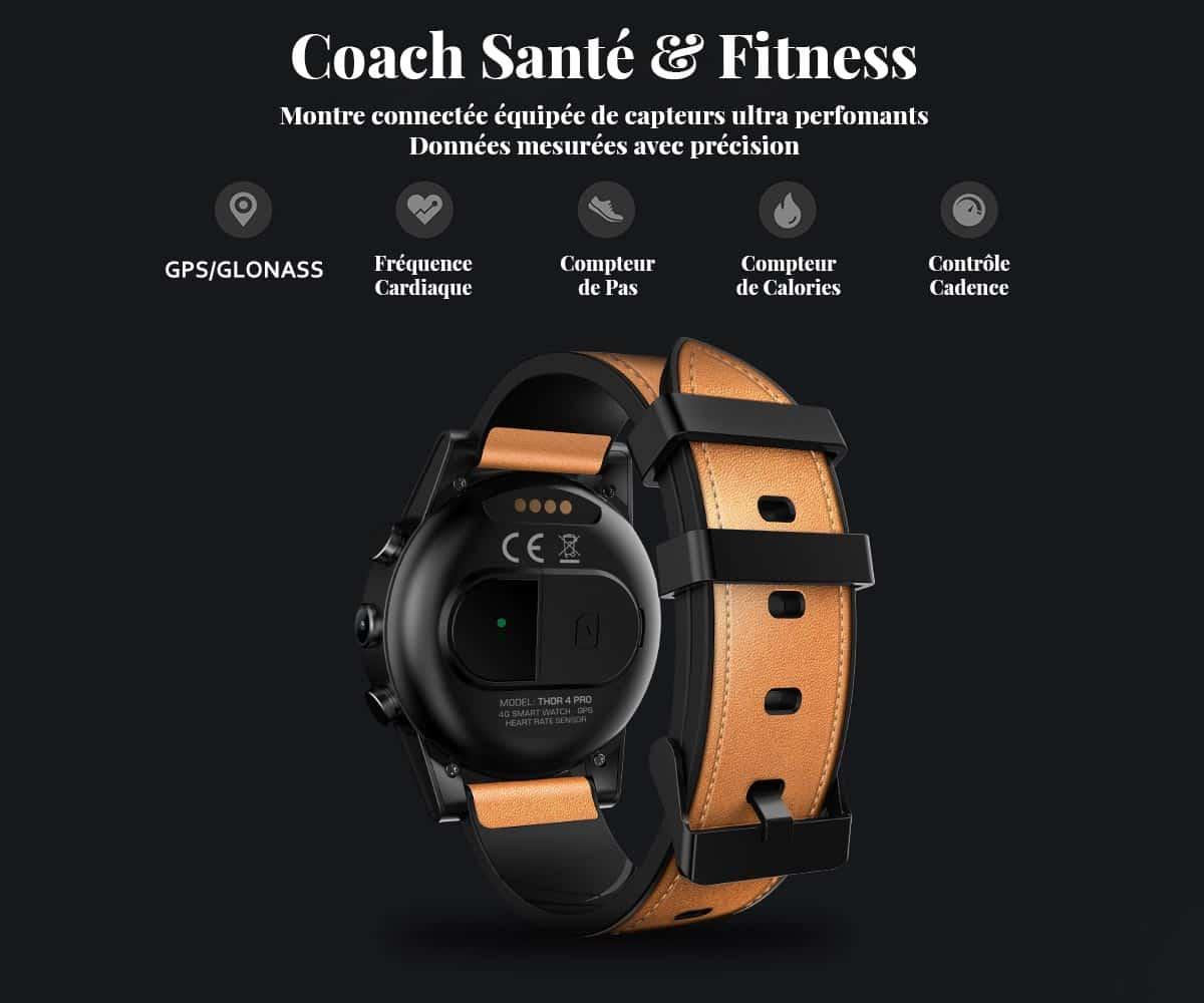 Montre connectée coach santé & fitness